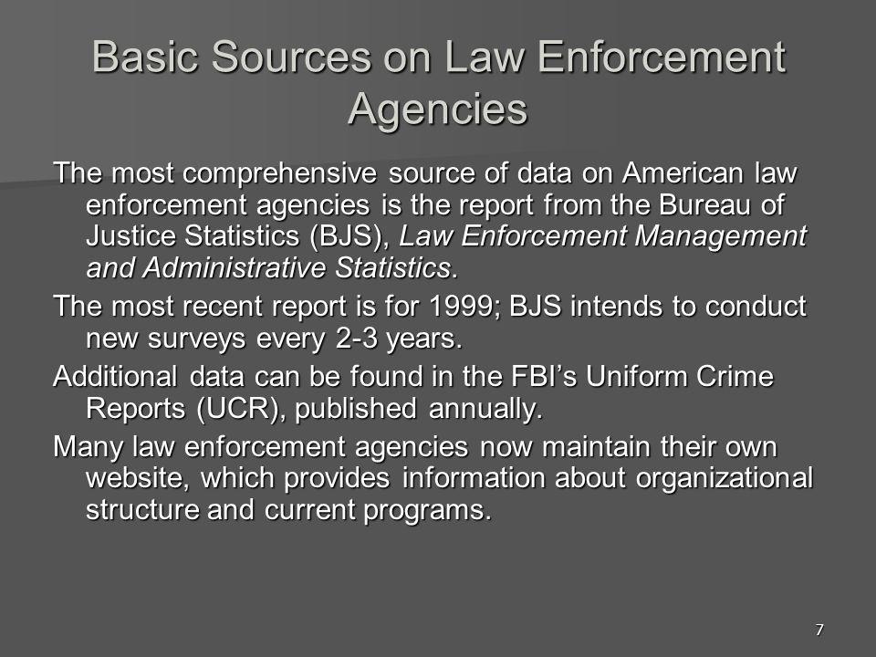 18 Minimum Standards No national police system or national standards U.S.