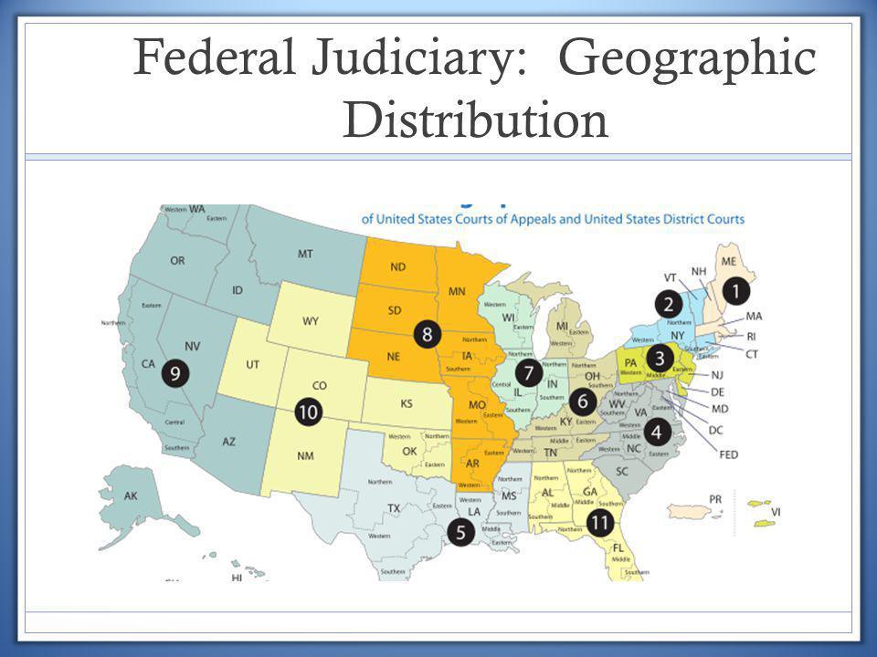 Federal Judiciary: Geographic Distribution