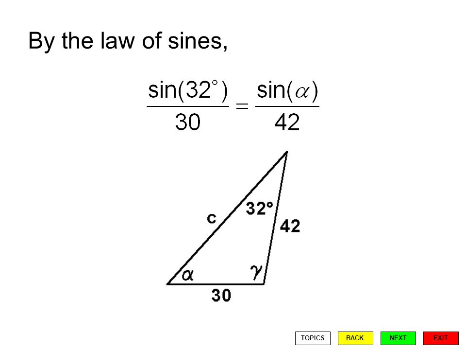By the law of sines, EXIT BACKNEXTTOPICS