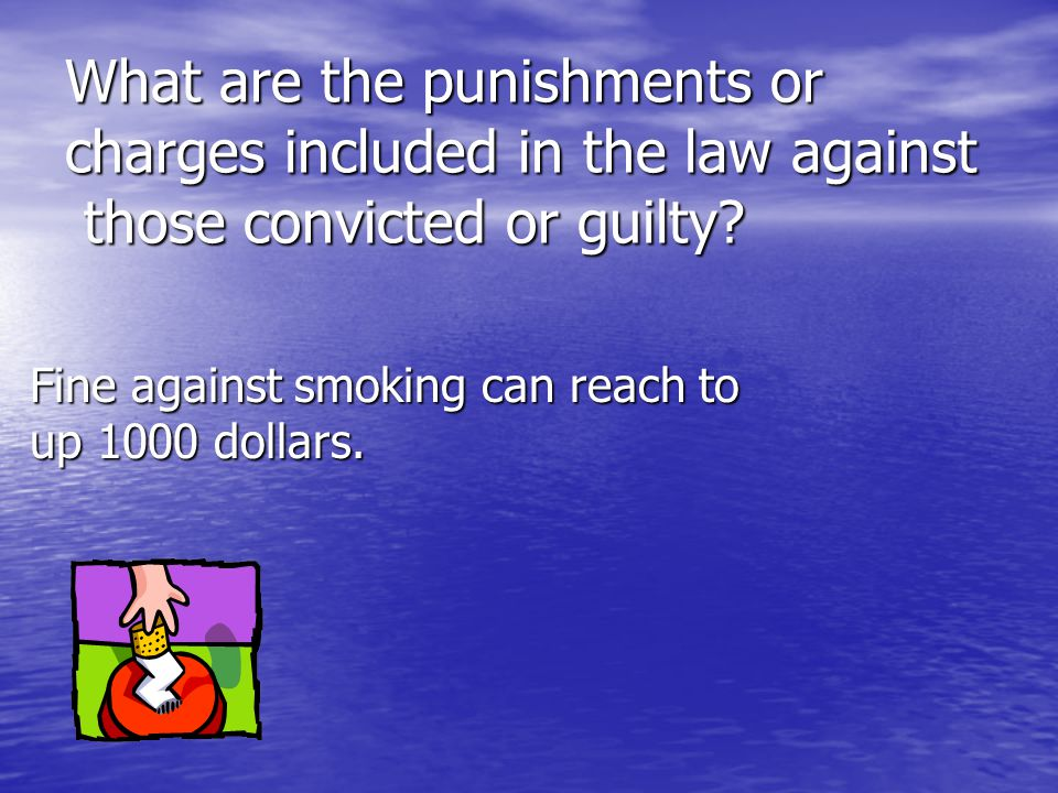 What are the punishments or charges included in the law against those convicted or guilty.
