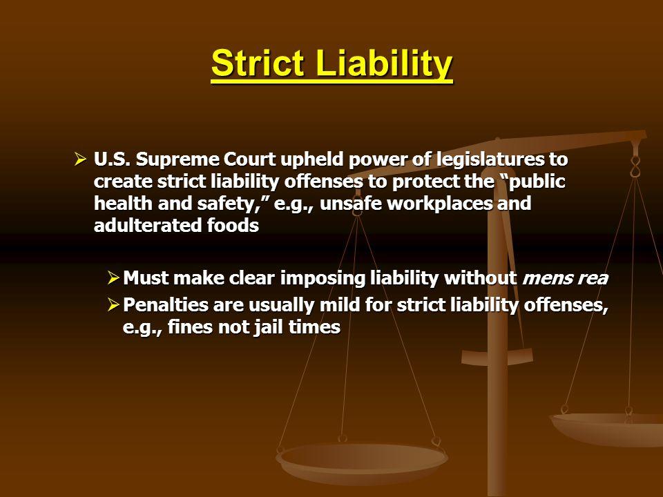 Strict Liability U.S.