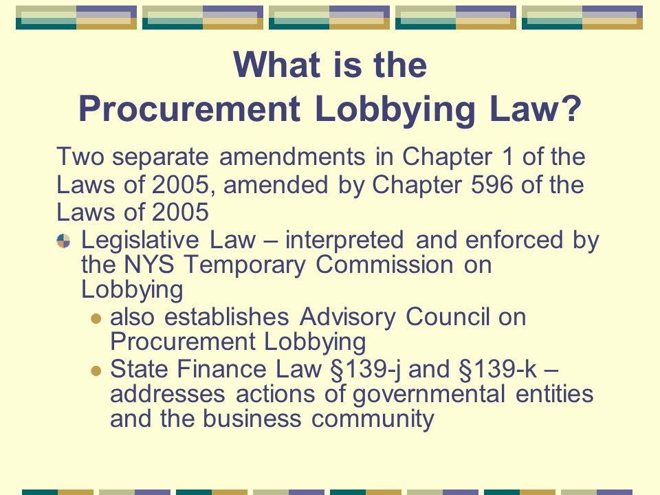 What is the Procurement Lobbying Law.