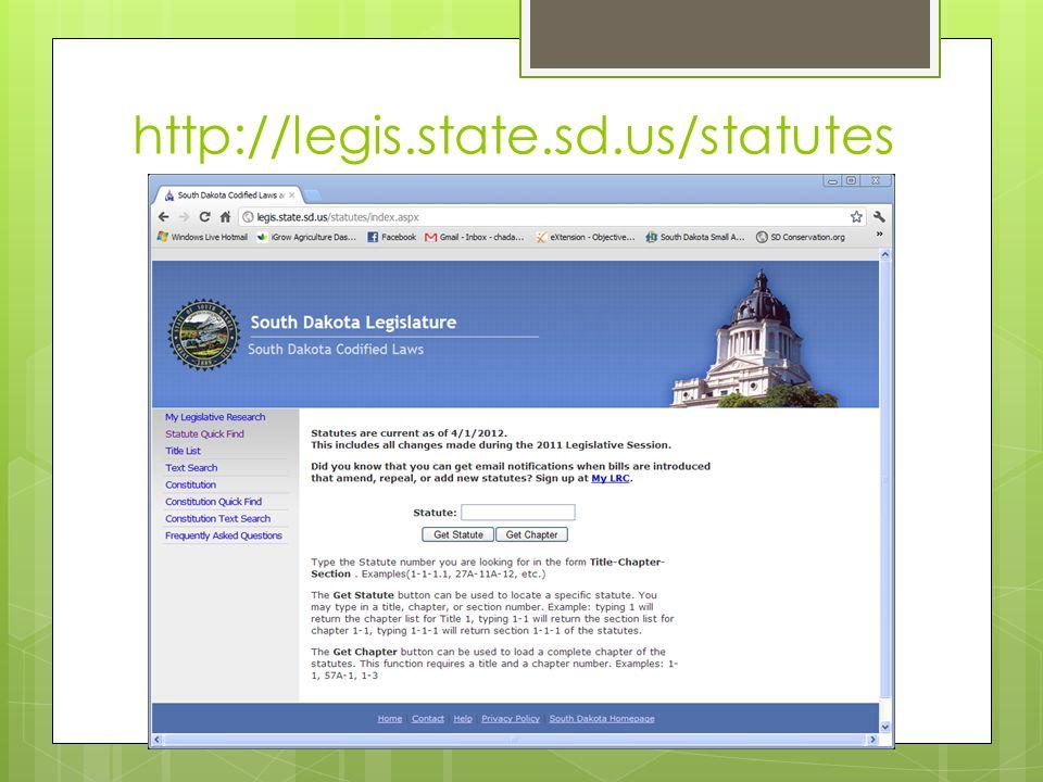 http://legis.state.sd.us/statutes