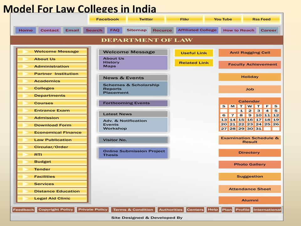 Model For Law Colleges in India