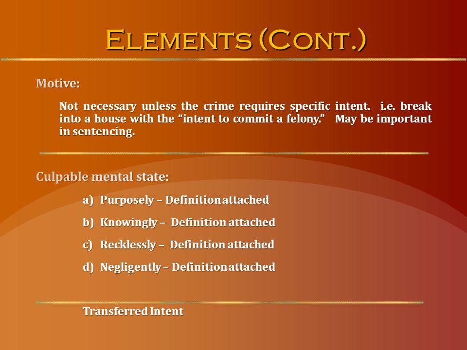 Elements (Cont.)