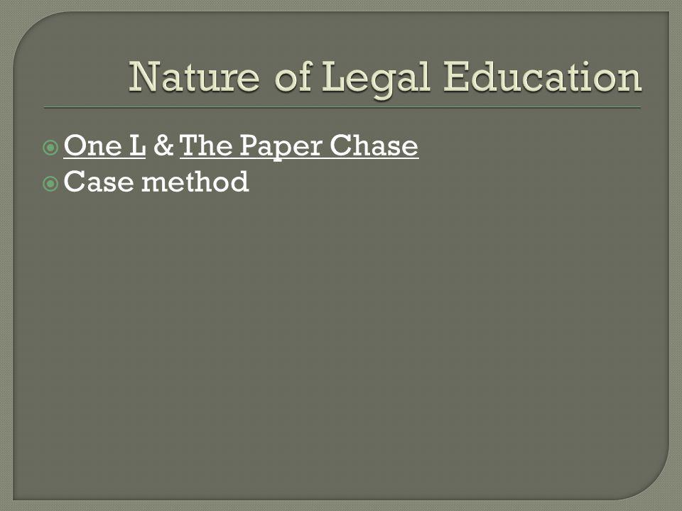 One L & The Paper Chase Case method