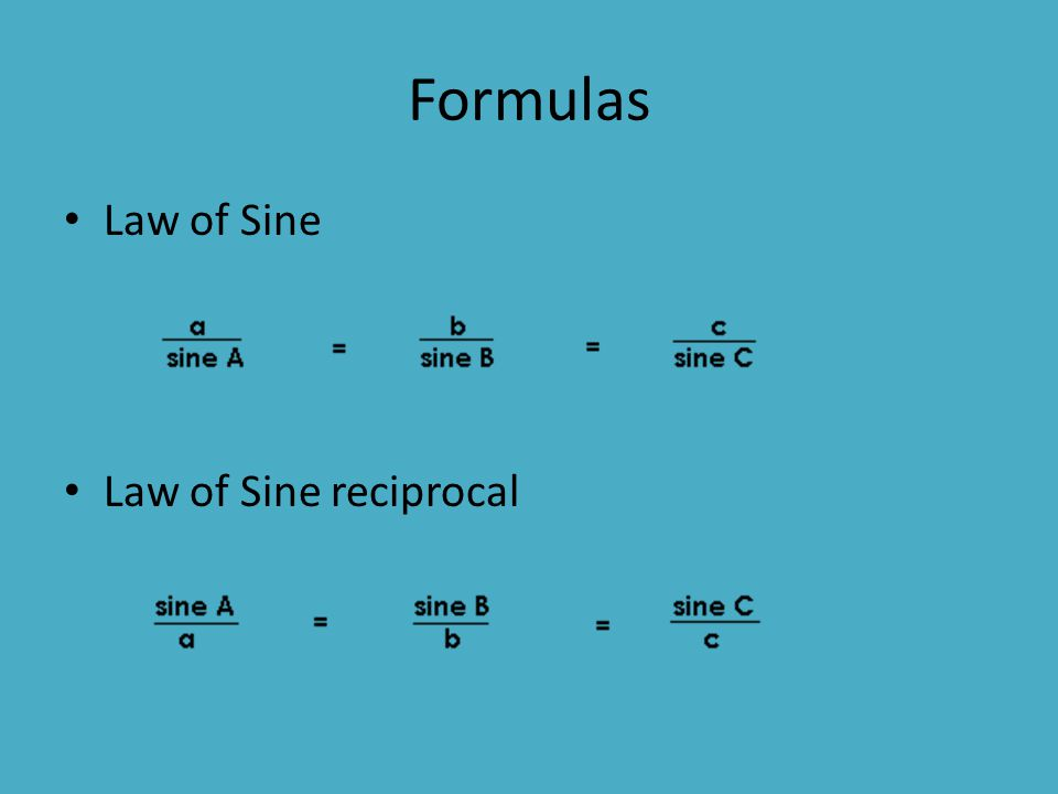 Real World Application People use Law of Sines and Law of Cosines everyday in construction, design, engineering, and architecture.