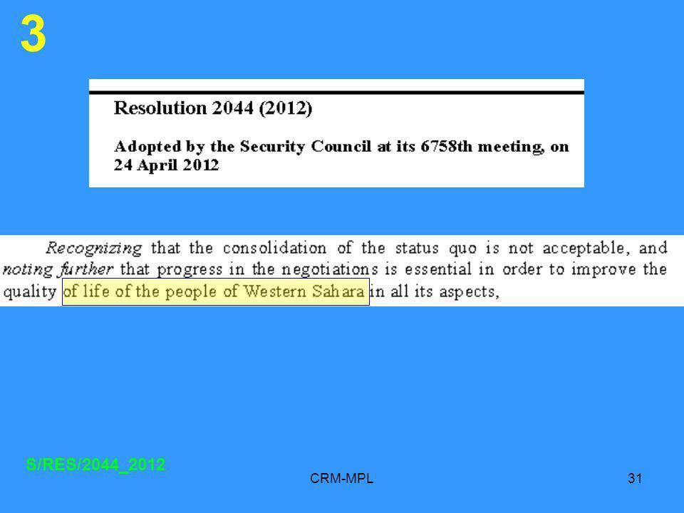 CRM-MPL31 3 S/RES/2044_2012