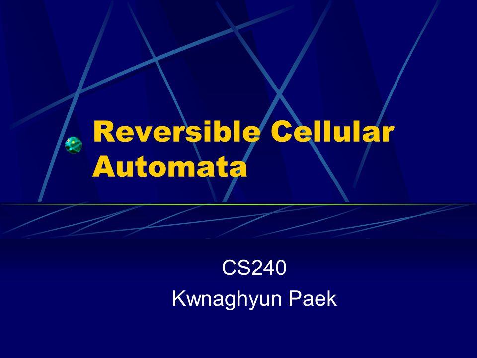 Reversible Cellular Automata CS240 Kwnaghyun Paek