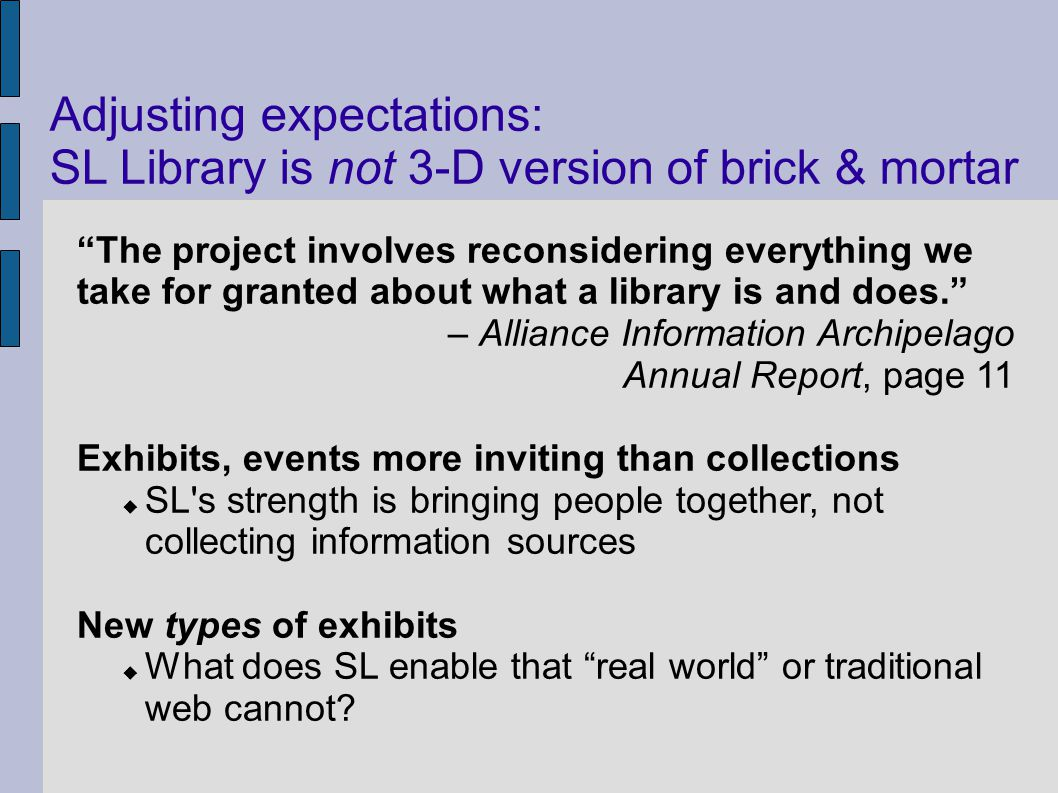 The project involves reconsidering everything we take for granted about what a library is and does.