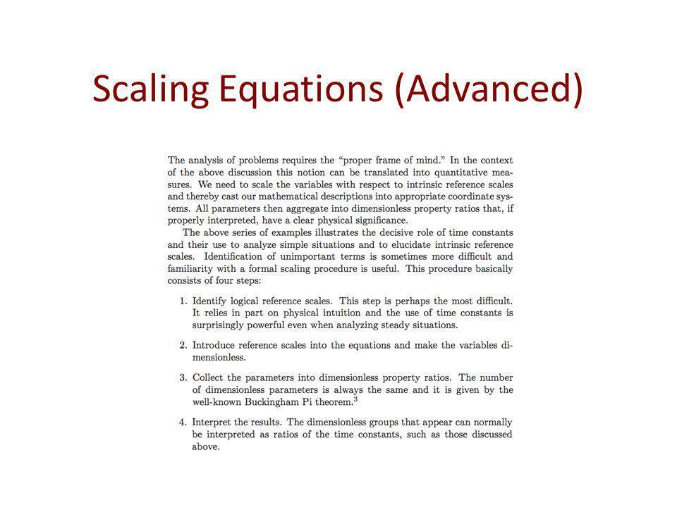 Scaling Equations (Advanced)