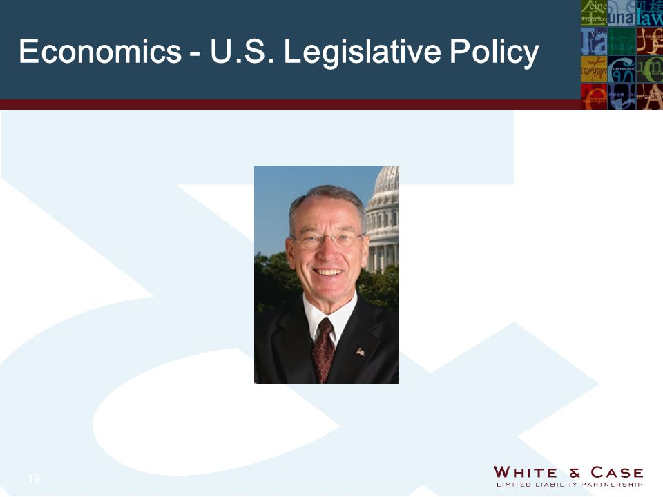 19 Economics - U.S. Legislative Policy