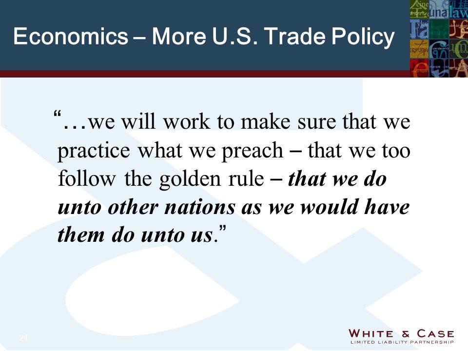 21 Economics – More U.S.