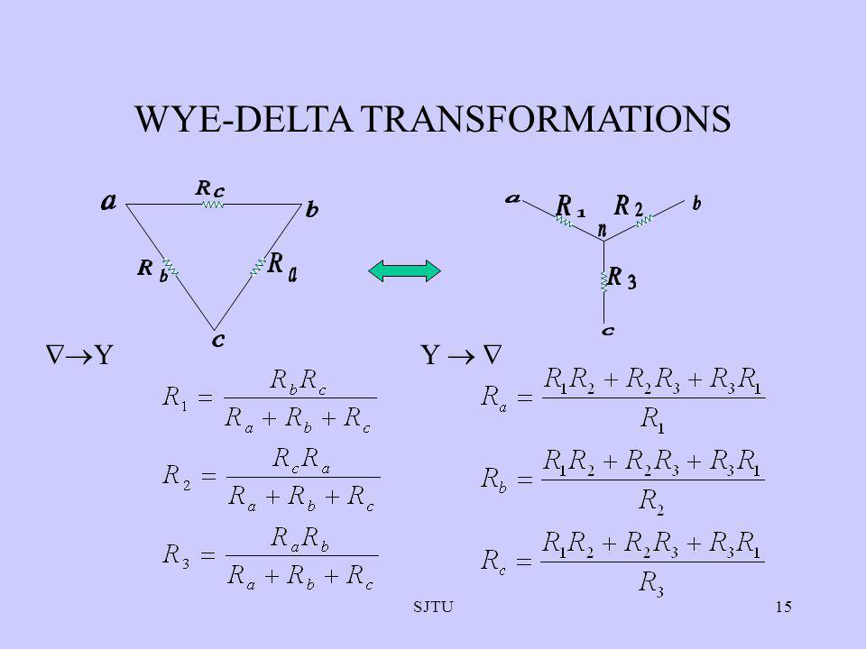 SJTU15 WYE-DELTA TRANSFORMATIONS YY