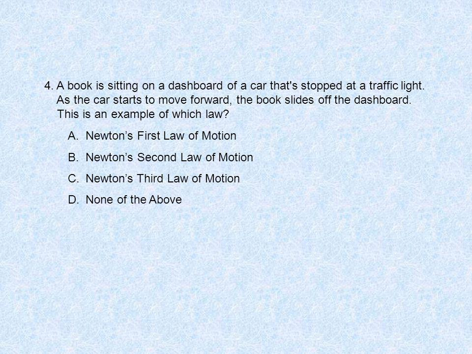 4.A book is sitting on a dashboard of a car that s stopped at a traffic light.