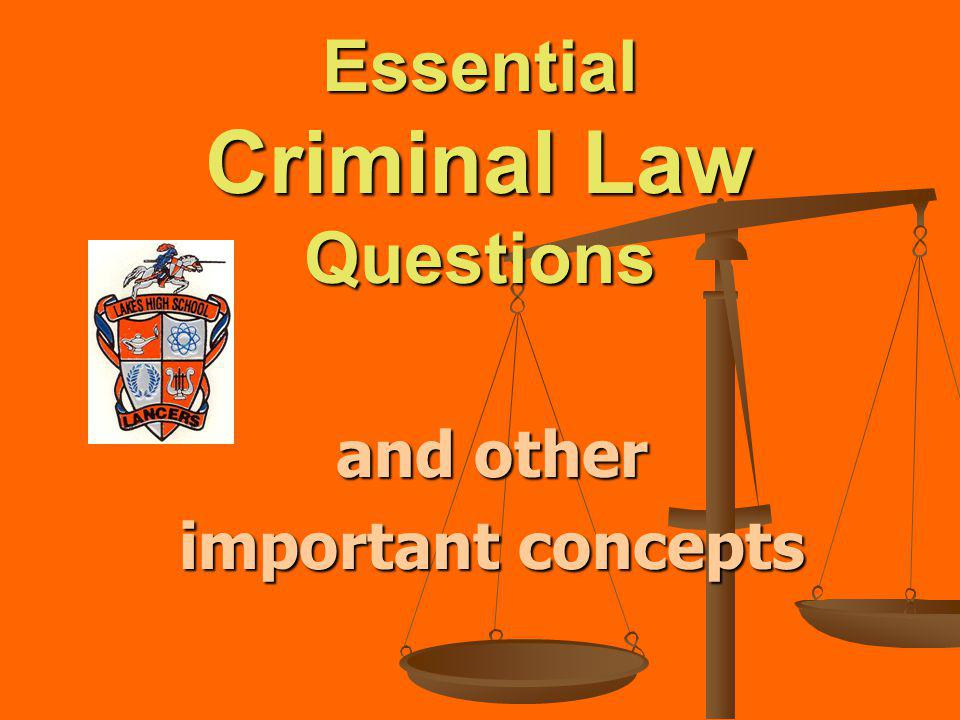 Essential Criminal Law Questions ( and other important concepts) What are common crimes against property?