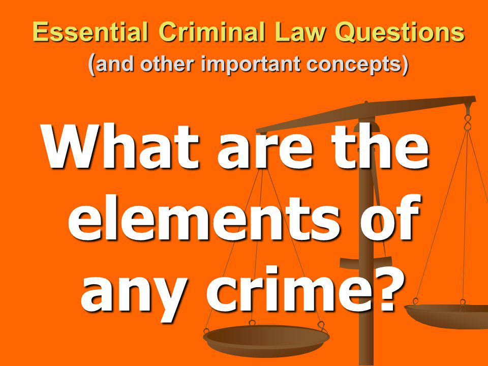 Essential Criminal Law Questions ( and other important concepts) What are common crimes against the government?