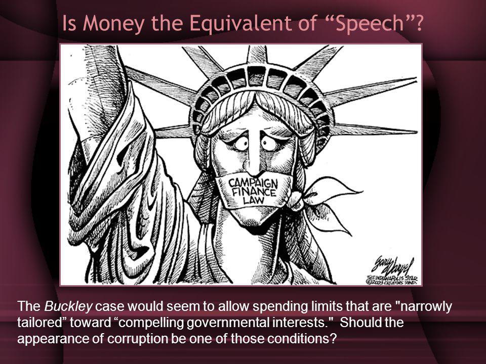Is Money the Equivalent of Speech.