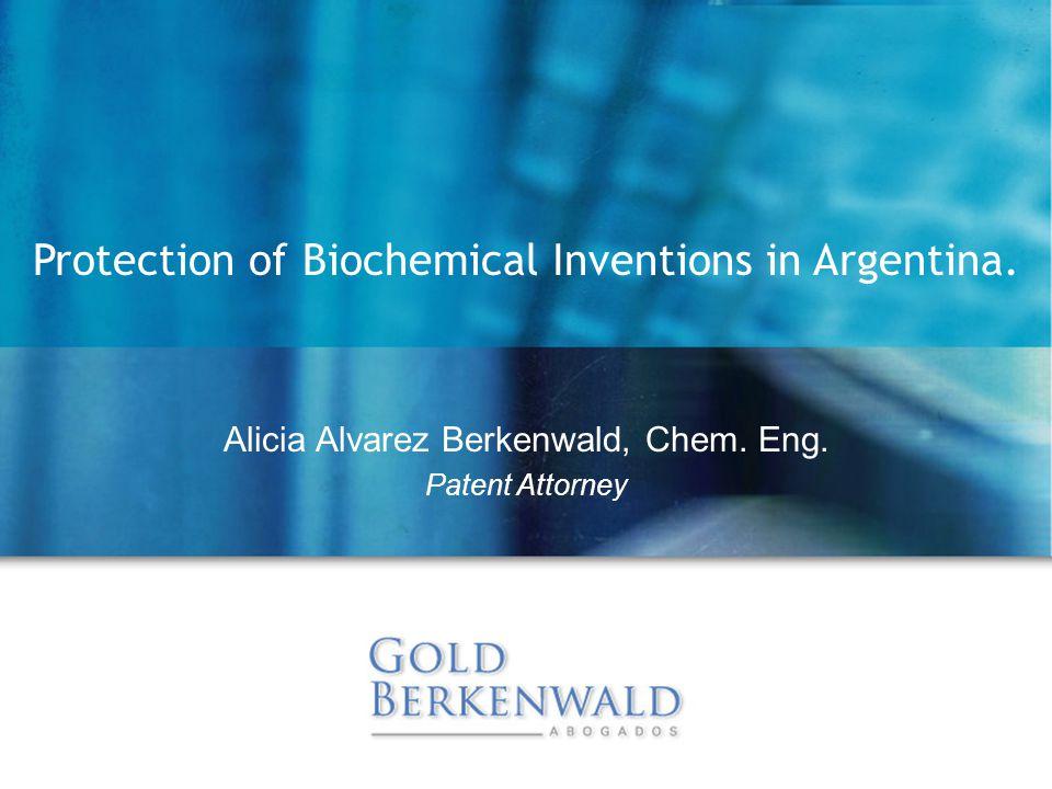 Alicia Alvarez Berkenwald, Chem. Eng.