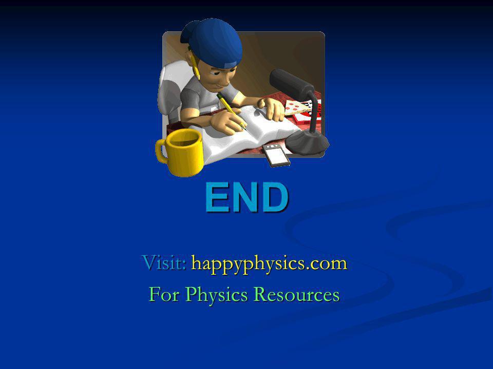 END Visit: happyphysics.com For Physics Resources