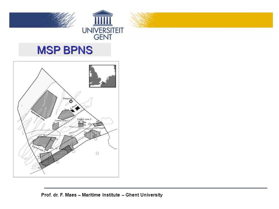 Prof. dr. F. Maes – Maritime Institute – Ghent University MSP BPNS