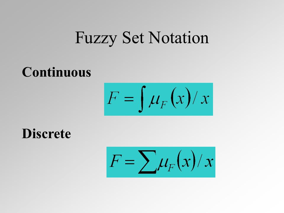 Fuzzy Associativity (2) Min-Max fuzzy logic has union distributive over intersection...