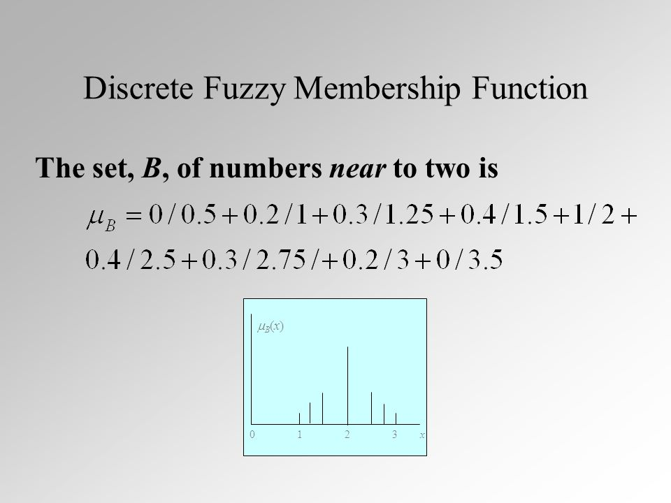Fuzzy and DeMorgans Law (2) Min-Max fuzzy logic obeys DeMorgans Law #2...
