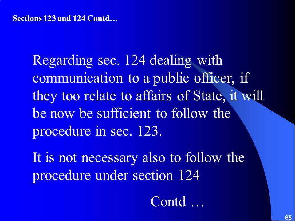 65 Regarding sec.