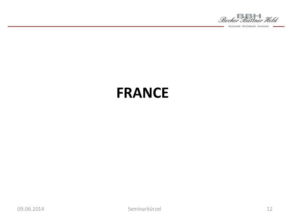12Seminarkürzel 09.06.2014 FRANCE