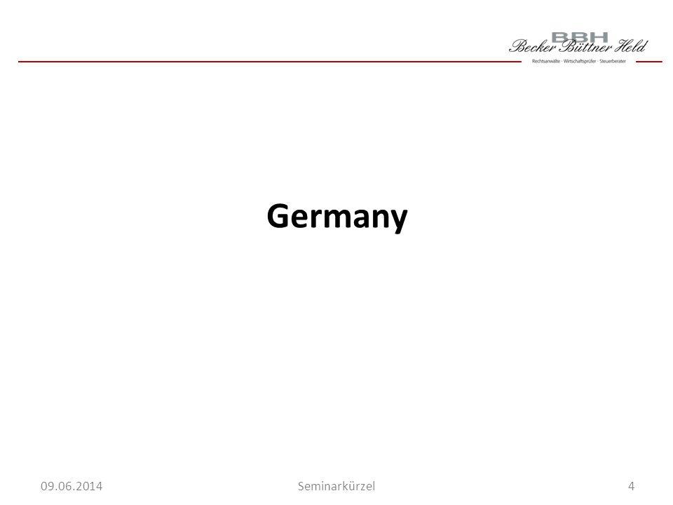 4Seminarkürzel 09.06.2014 Germany
