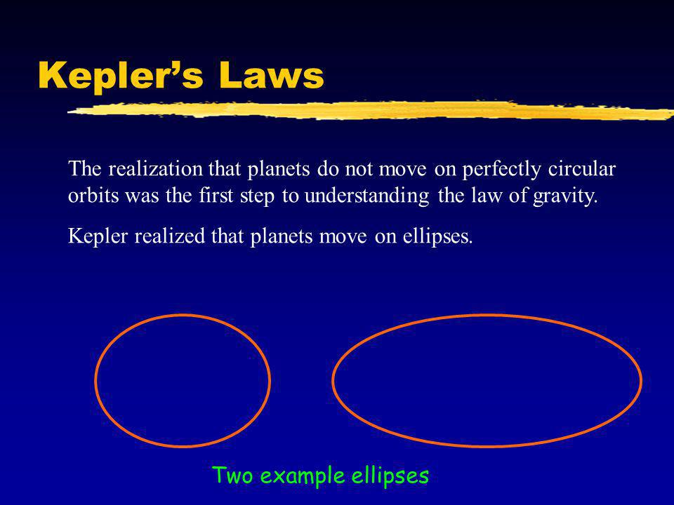 Ellipses To make an ellipse, we take two points, called the foci.