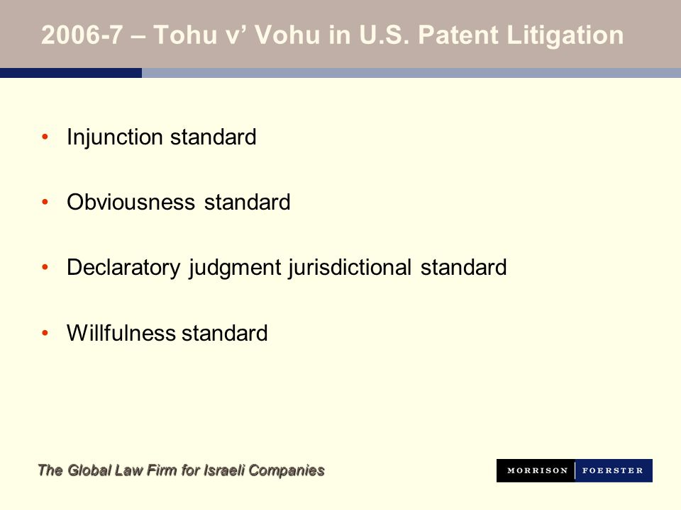 The Global Law Firm for Israeli Companies Am I at risk of an injunction.