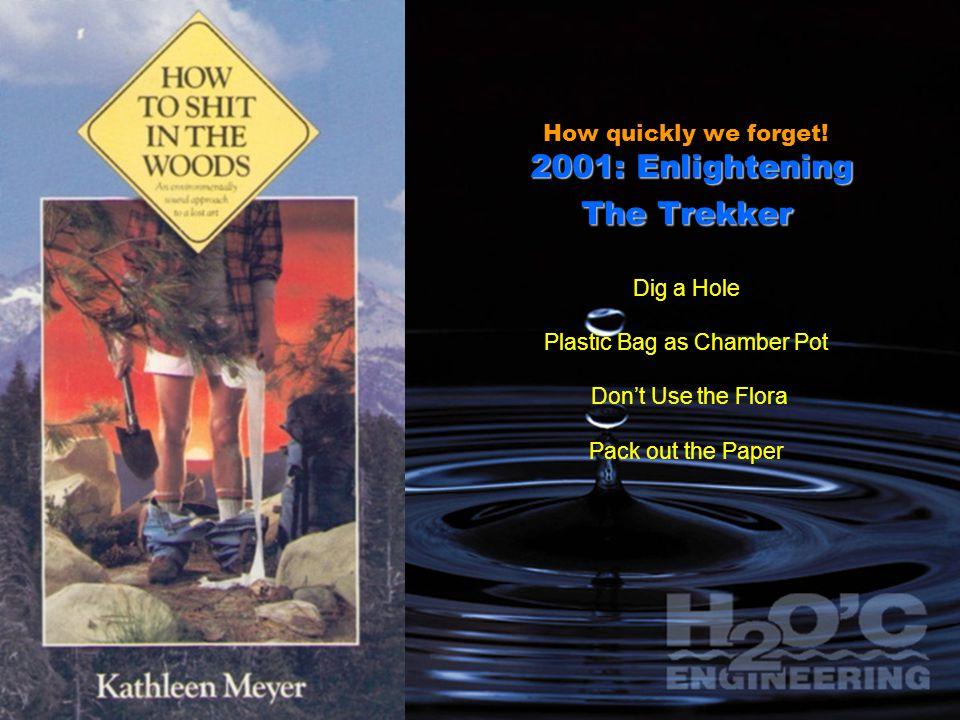 2001: Enlightening The Trekker How quickly we forget.