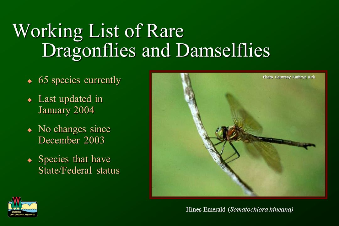 Why track this information.1. What rare species and ecosystems exist in the State.
