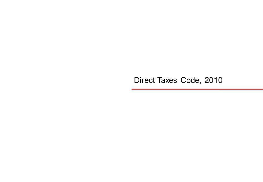 Direct Taxes Code, 2010