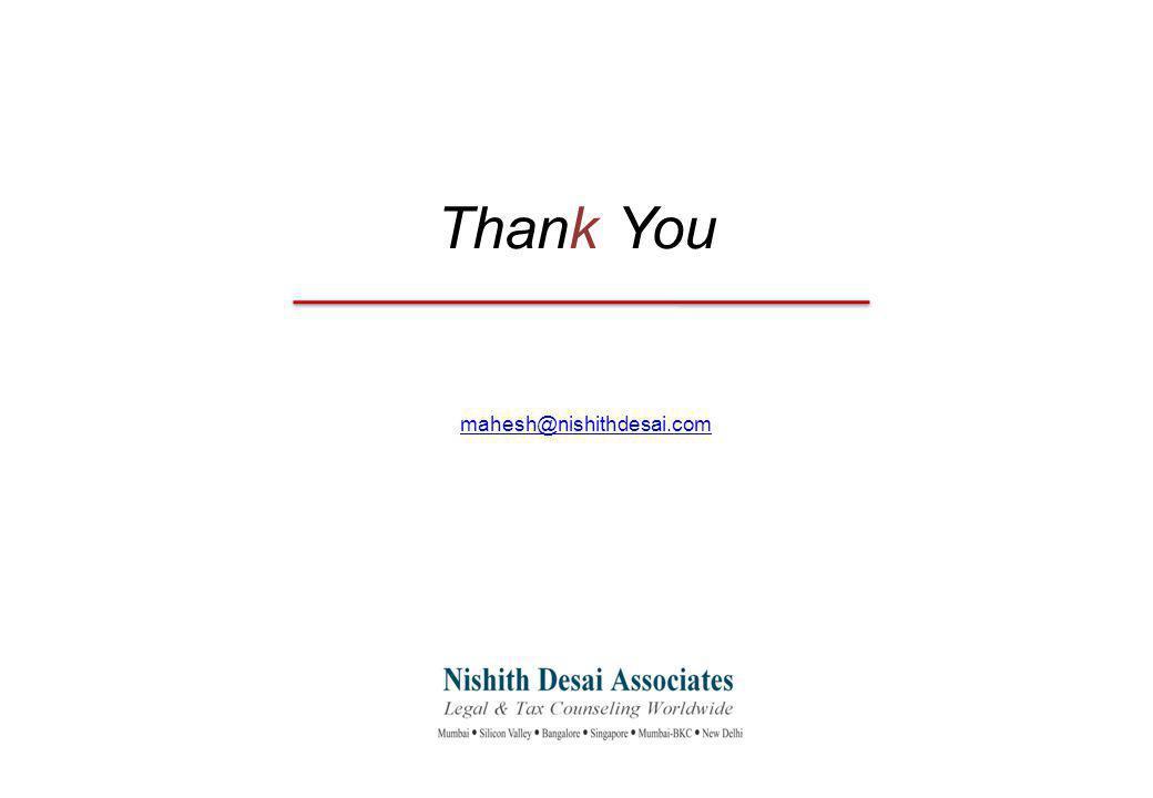 Thank You mahesh@nishithdesai.com