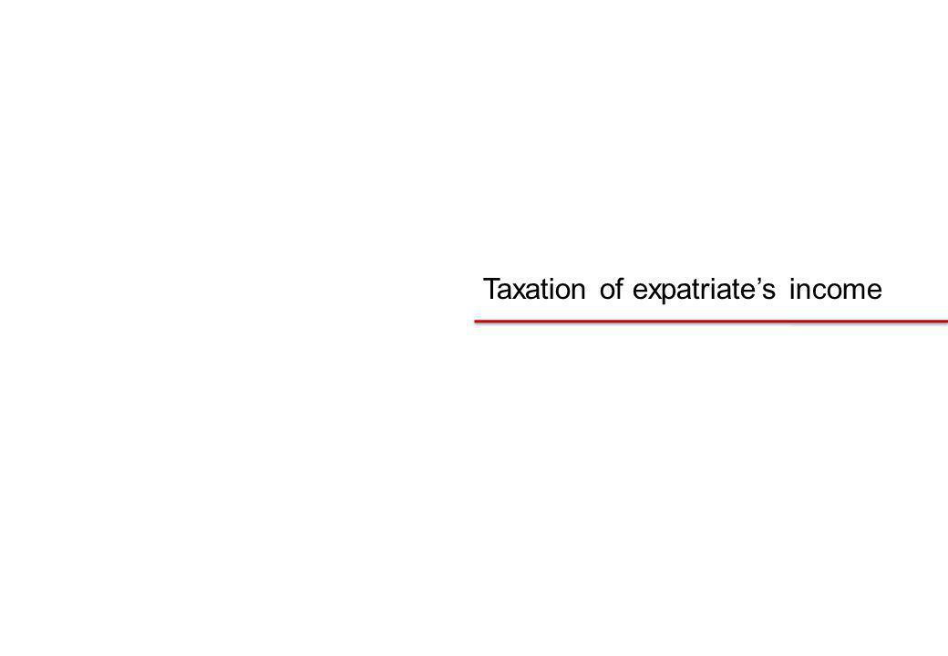 Taxation of expatriates income