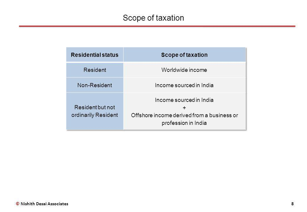 Scope of taxation 8© Nishith Desai Associates