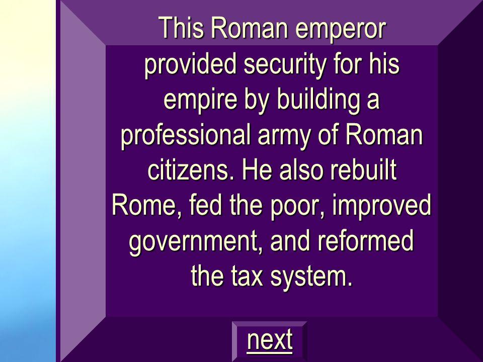 Final Jeopardy Todays Category: Roman Leadership