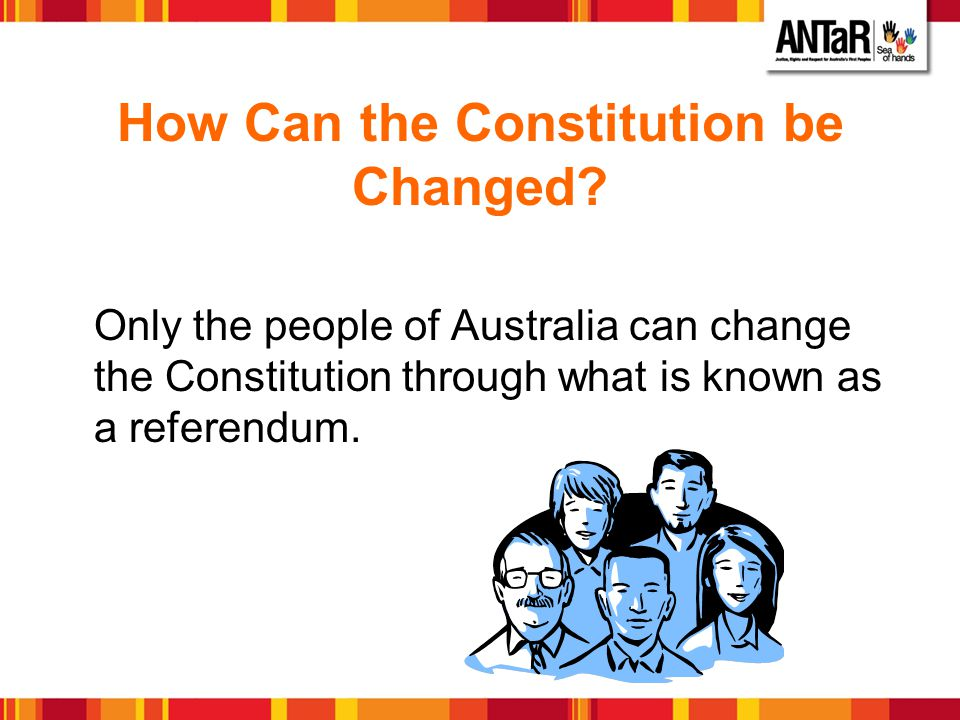 Referendum To be successful a referendum must receive a double majority.