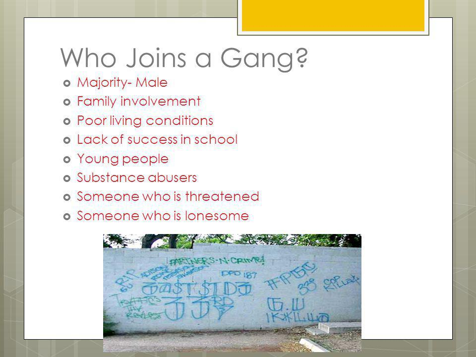 Gangs and Crime Why are they growing? Lure of profit Historically: Gangs are organized along ethnic lines. Interested in protecting turf, reputation,