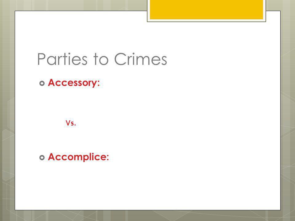 Classes of Crimes