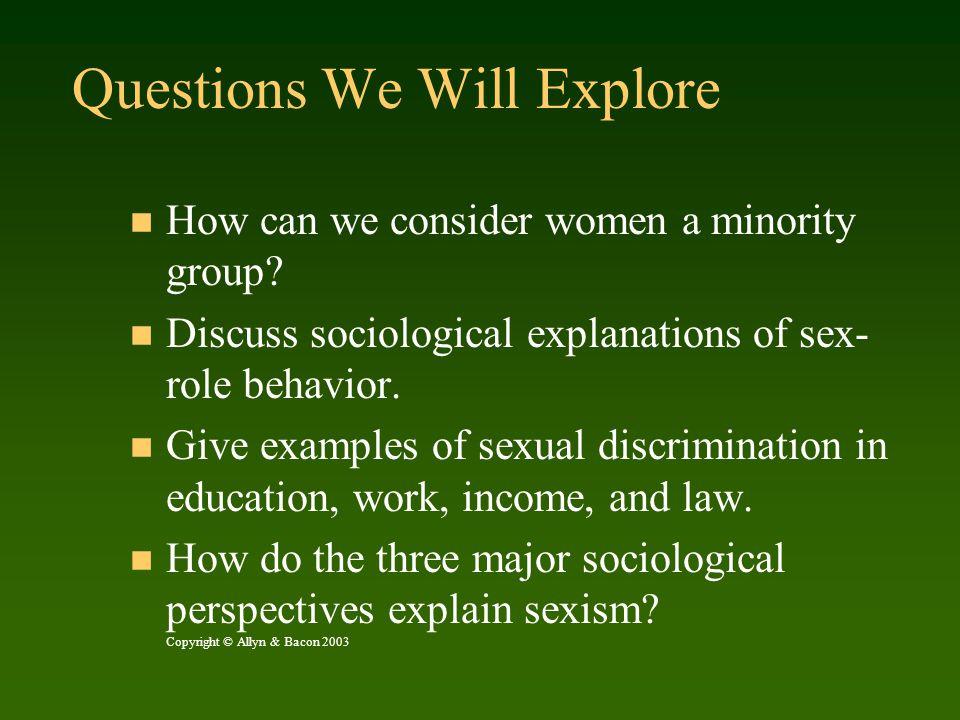 Considering Women as a Minority Group U.S.