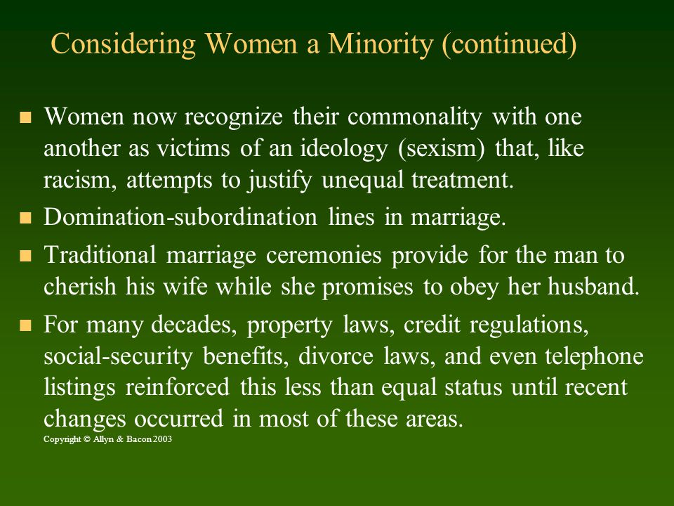 Summary U.S.society has only recently recognized sexism as a social problem.