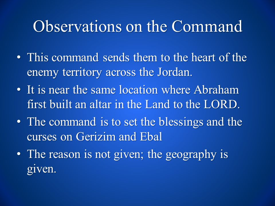 Interpretation of the Command The redeemed Children of Israel were to be set apart to the LORD by means of the Mosaic Law.