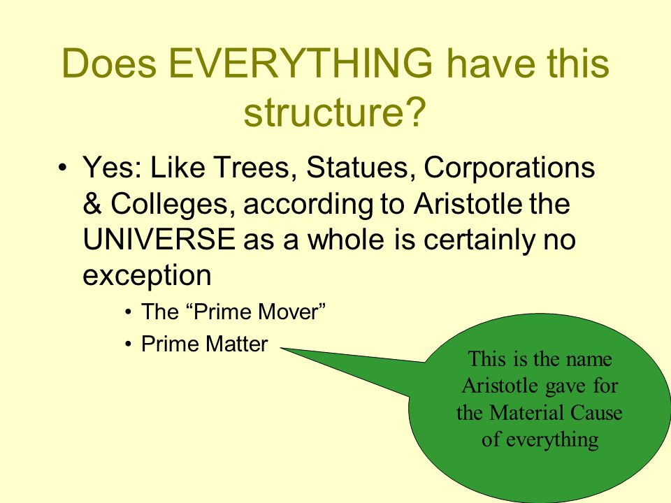 Does EVERYTHING have this structure.