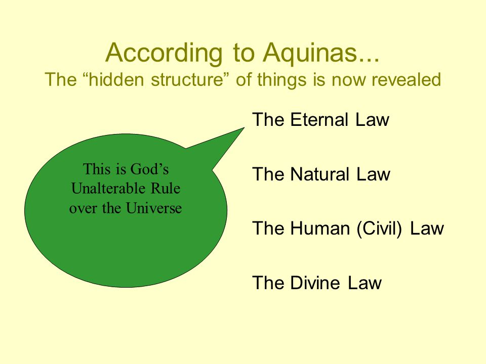 According to Aquinas...