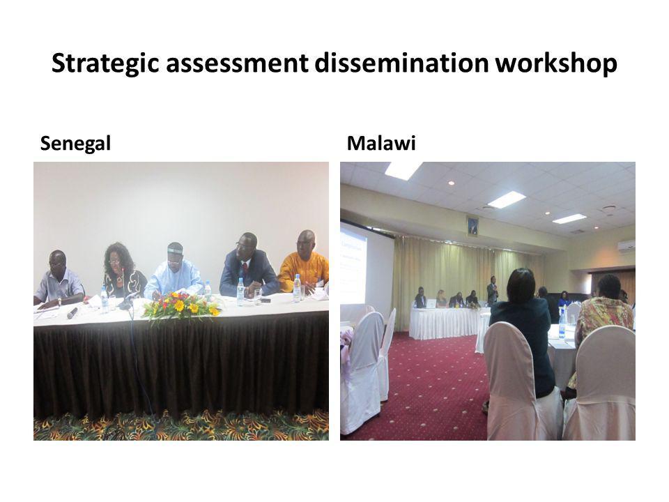 Strategic assessment dissemination workshop SenegalMalawi