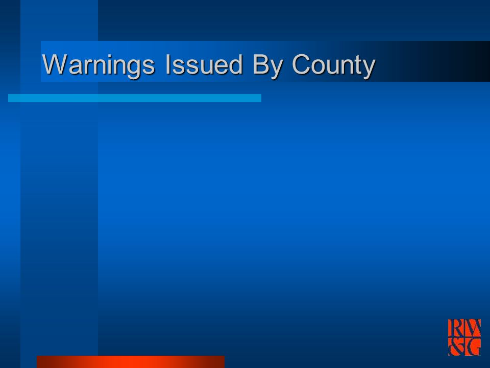 Warnings Issued By County