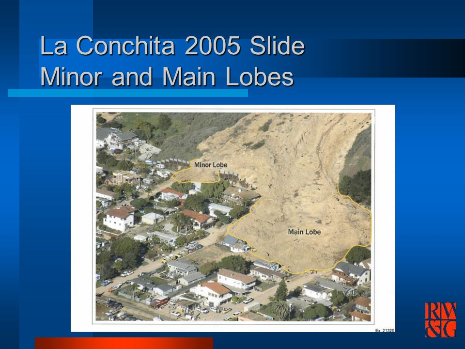 La Conchita 2005 Slide Minor and Main Lobes